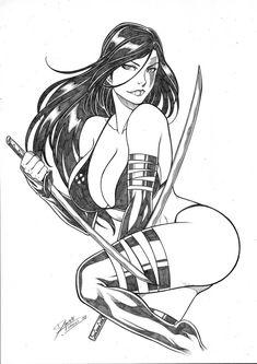 Psylocke by Daniele Torres - Ed Benes Studio Marvel Girls, Comics Girls, Marvel Art, Marvel Dc Comics, Comic Book Girl, Comic Books Art, Comic Art, Chibi, Comic Room