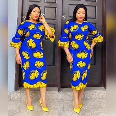 2019 Latest African Fashion Styles : Absolutely Cute Styles for Sweet Ladies Ankara Styles For Women, Ankara Short Gown Styles, Beautiful Ankara Styles, Kente Styles, Ankara Gowns, Short Dresses, African Print Dresses, African Fashion Dresses, African Dress