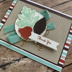 Fun Fold Cards, Folded Cards, Fall Cards, Holiday Cards, Fall Paper Crafts, Leaf Cards, Stampinup, Creative Cards, Greeting Cards Handmade