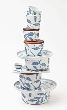 "line of ceramics named ""Stitches"" - by Danish designer Gry Fager."