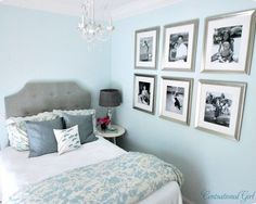 Light Blue Walls Design, Pictures, Headboard, Decor and Ideas