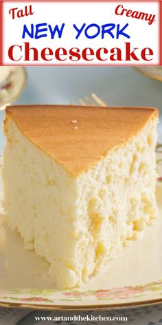 Incredible cheesecake recipe that is tall, creamy and smooth. I make this recipe without a crust, but if you prefer a simple graham crust will work great. Ny Cheesecake Recipe, Healthy Cheesecake Recipes, Homemade Cheesecake, Dessert Recipes, Homemade Snickers, Cupcakes, Cupcake Cakes, Just Desserts, Delicious Desserts