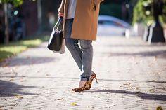 Fall Layers - J. Crew Camel Coat - Boyfriend Jeans - Leopard Heels - Tunic Turtleneck Sweater - Federal Hill Park - Baltimore - Vasiliki Photo - Haute Hijab Scarf - Fashion Blogger - Hijab Fall Fashion - Modest Fashion