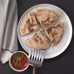 Looking for a quick and easy lunch fix? Make this shredded chicken quesadilla!