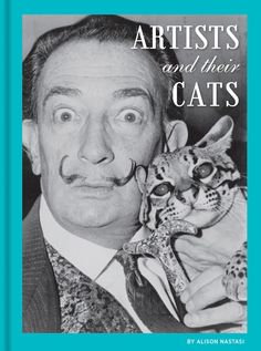 * * SALVADOR DALI - Surrealist painter with what looks like an Ocelot?