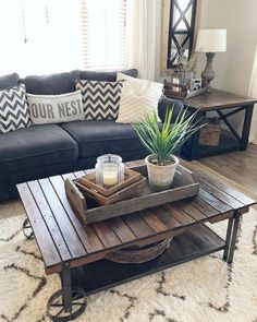 The rustic living room wall decor is indeed very eye-catching as well as lovely. The rustic living room wall decor is indeed very eye-catching as well as lovely. Right here is a collection of rustic living room wall decor. Living Room Modern, My Living Room, Interior Design Living Room, Home And Living, Living Room Designs, Living Area, Small Living, Rustic Living Rooms, Cozy Living