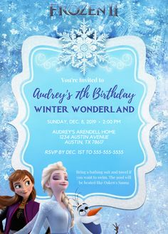 Inspiration for a magical FROZEN Winter Wonderland Birthday Celebration. Birthday Party At Home, Birthday Bash, Frozen Birthday Invitations, Winter Wonderland Birthday, Pamper Party, Happy Party, Online Invitations, Frozen Party, Contemporary Interior