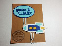 You're A Blast/ Paper Clips/ Planner Clips/Sky Blue/ Navy Blue/Glam Planner/ BookMarks/ Gift Item/ Happy Planner/ Hand Crafted