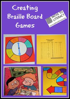 It's easy to modify traditional board games with #braille and #tactile markings. And everyone learns a little more braille in the process!