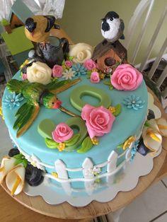 Garden bird cake