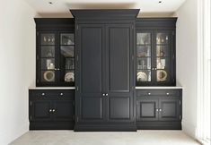 Dinning Room Cabinet, Kitchen Display Cabinet, Tall Kitchen Cabinets, Kitchen Cabinets Floor To Ceiling, Kitchen Dresser, Display Cabinets, Cupboards, Tall Cabinet Storage, Kitchen Paint Colors