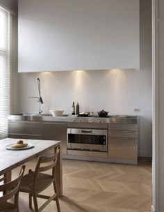 stainless + white kitchen