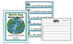 Earth Day Sentence Editing Freebie from  Primary Possibilities