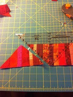 Much easier way of doing string quilts More
