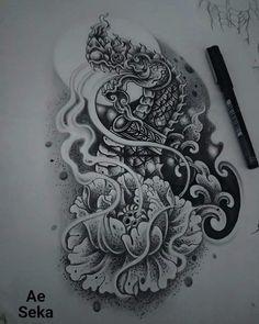 Cambodian Tattoo, Khmer Tattoo, Thai Tattoo, Dragon Head Tattoo, Thailand Tattoo, Thai Art, Thai Style, Asian Art, Tattoo Photos