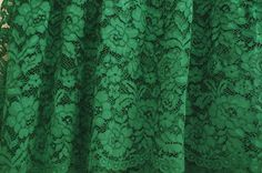 green lace fabric, alencon lace fabric, cord lace fabric, embroidered floral lace fabric with poenies