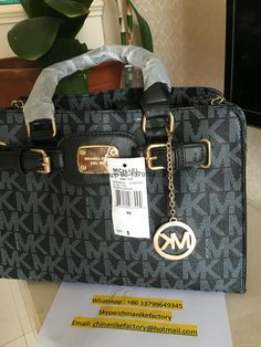 MICHAEL By Michael Kors MK Signature Large NS Gansevoort Tote Handbag* Gold  see you tonight...  .      Why is this us.  .    ...