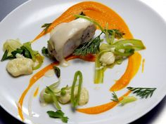 Poached Chicken Breast, Carrot Puree with Garlic and Tofu Emulsion - Kristen Kish, Top Chef Season 10 (Seattle)