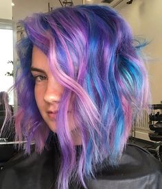 Pretty Hairstyles, Girl Hairstyles, Colorful Hair, Amazing Hair, Rainbow Hair, Purple Hair, Hair Trends, Ponytail, Hair Inspiration