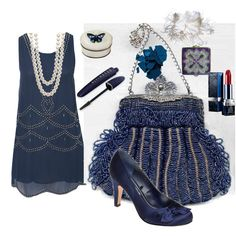 Am I blue? No, but this outfit is. Gorgeous look for the Roaring '20s fashion contest on shopforfun.com, styled by Mitzie.