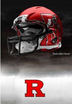 Rutgers University Scarlet Knights  - concept football red helmet