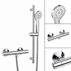 Bar #mixer shower thermostatic #valve bathroom set & #round hand held head ss7109,  View more on the LINK: http://www.zeppy.io/product/gb/2/331616065817/