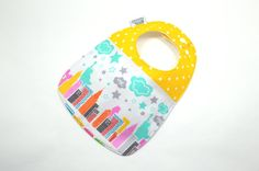 Baby Bib / NYC baby / Modern bib / Boutique bib/ by TextileTrolley, $12.00