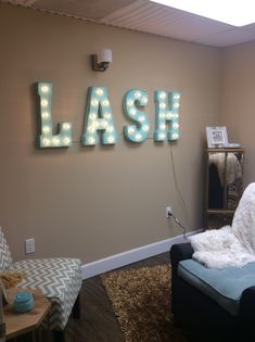 Marquee Market LASH Sign for a beauty room! #marqueemarket