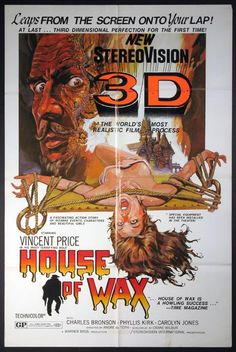 HOUSE OF WAX Movie Poster (R-1971) || HORROR Movie Posters   @ FilmPosters.Com - Vintage Movie Posters and More