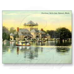 Pavilion Belle Isle, Detroit Michigan 1915 $1.35 each, beautiful vintage image!