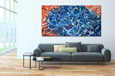 Acryl Gemälde 'Zur blauen Stunde erwacht' 200x100cm