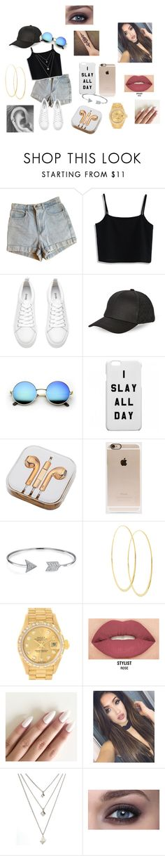 """""""Summer look"""" by bambii691 ❤ liked on Polyvore featuring American Apparel, Chicwish, H&M, BCBGeneration, PhunkeeTree, Incase, Bling Jewelry, Lana, Rolex and Smashbox"""