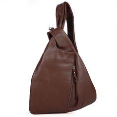 кожаный рюкзак + женский кожаный рюкзак  M61-br, Bruno Rossi s.r.l., Флоренция, в интернет магазине Пеллетерия RU