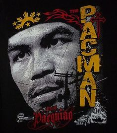 Men's Pacman Manny Pacquiao Boxer Fighter Tshirt