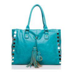 Morrow ❤ liked on Polyvore featuring bags, handbags, tote bags, bolsas, tote purses, tote bag purse, handbags totes, blue tote and blue purse