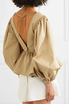 STAUD - Luna ruffled cotton-blend poplin blouse in 2020 Fashion 2020, Look Fashion, Womens Fashion, Fashion Design, Fashion Trends, Looks Style, My Style, Organza, Sport Chic