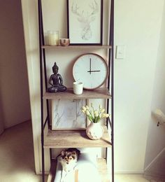 Image result for clock.for.ladder.bookshelf