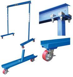 2000lb capacity portable/mobile work area overhead crane
