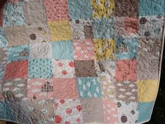 Patchwork Quilt for Baby Storybook Fabric for Moda Kate by shancee