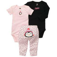 ebb639abc Amazon.com: Carter's Baby Girls' 3 Pc Turn Me Around Set: Clothing