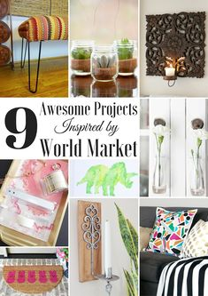 Domicile 37-Knock It Off DIY: World Market Inspired Candle Holder and 9 Awesome Projects Inspired by World Market