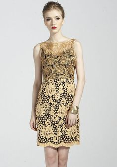 Yellow Sleeveless Embroidery Slim Lace Dress pictures