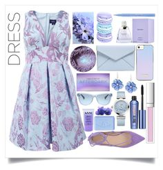 """It's time to wear lilac and blue"" by onelittleme ❤ liked on Polyvore featuring Carla G., Notte by Marchesa, Vera Wang, Stila, Rebecca Minkoff, Benefit, Ralph Lauren, RMK, Rina Limor and OMEGA"