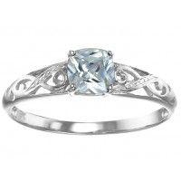 Cubic Zirconia & Diamond Dress Ring