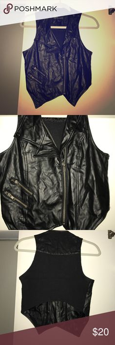 🎧 PLEATHER VEST I LOVED this baby. Too small now. Cute for pretty much anything at any time. Distressed leather look. Urban behavior. urban behavior Jackets & Coats Vests