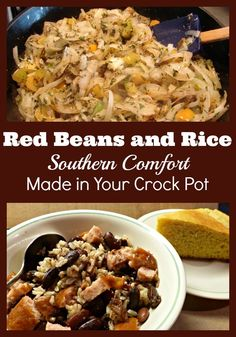 Red Beans and Rice is Southern Comfort Food. This recipe has less fat than other options yet tastes great and cooks in the crock pot.