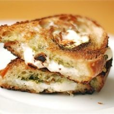 Fresh mozzarella melted between crispy rustic bread. Ahhhmazing panini for a quick lunch.