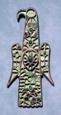 Visigothic Aquiliform Fibula. Musée de Cluny.