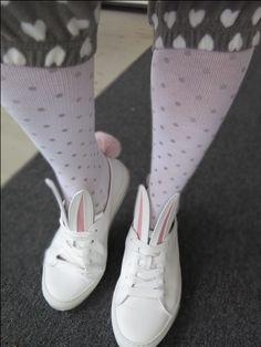 Tukisukat harmailla pilkuilla & bunnyshoes. Sneakers, Shoes, Fashion, Tennis, Moda, Slippers, Zapatos, Shoes Outlet, Fashion Styles