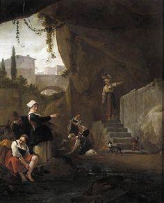 1 августа. Thomas Wijck (circa 1616–1677) .Interior of a Cave Datecirca 1640